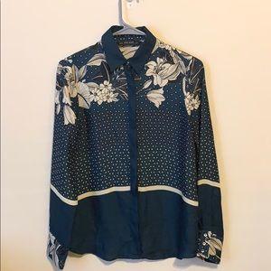 Zara Silk Button up top